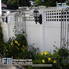 Fencemaster beautiful lattice top vinyl fence for houses and gardens