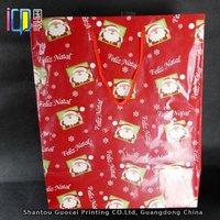 Custom various santa gift recycled paper christmas goodie bag 2015