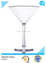 unbreakable plastic muller martini glasses wholesale