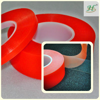 Double sided polyester PET transparent self adhesive plastic film
