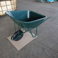 Heavy duty 140L wheelbarrow