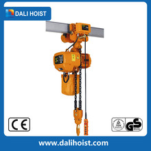 1ton double lifting and trolley speed electric chain hoists with hoist trolley