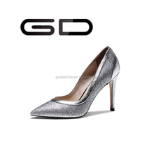 GD Fine gold sequins wedding shoes bride wedding banquet with club high heels