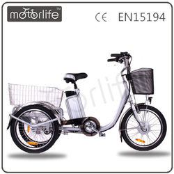 MOTORLIFE/OEM brand new style 36v 250w high quality Chinese tricycle, three wheel ebike