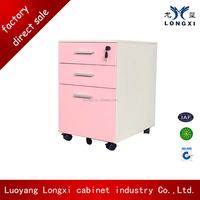 File storage with wheels 3 drawer mobile pedestal cabinet, storage locker with wheels