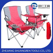 Doble asiento de silla de camping, Silla plegable de la lona