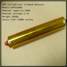 3.2V 50AH Lithium iron phosphate cylindrical battery for starting battery/sea scooter/backup power