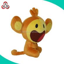 Hot sale orange mini big mouth plush monkey for promotion