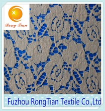 Cheap new design lily nylon lace fabric for garment