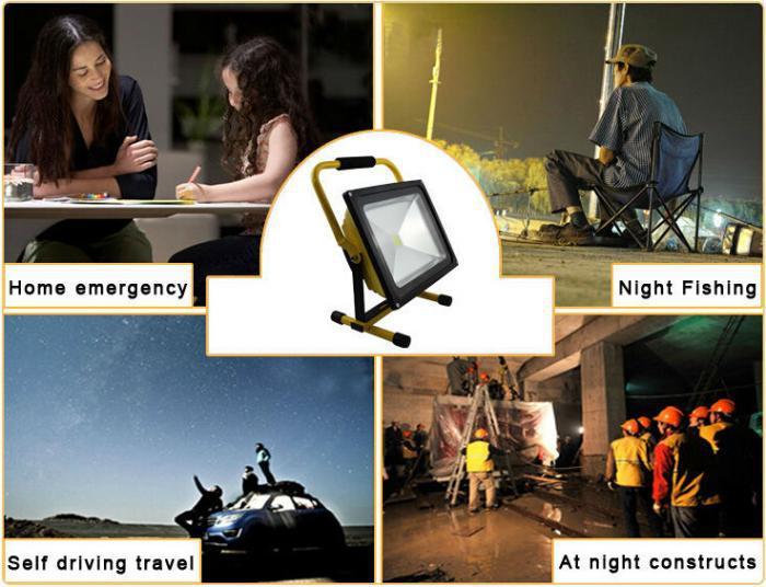 Portable 10W COB Super Ultra Bright LED Work Light Rechargeable Flood Lights Spot Light Waterproof