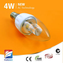 e14 dimmable driverless 4w dimmable light up candle wall picture