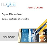 Wholesale Ultra thin 0.3mm 9H Anti Shock Premium tempered glass screen protector for HTC ONE M9 Support OEM