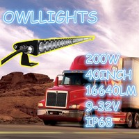 OEM/ODM car accessories 4x4 40inch led work lamp economical offroad 200w single row led light bar for vehicle,SUVs,ATVs,truck