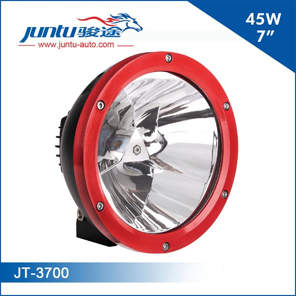 Model No.:JT-3700LED Chip: CREEPower: 7inch 45WLumen: 3200LMBeam Pattern: Spot BeamWorking Voltage: 9-32VCurrent: 2.1A@12V, 1.2A@24VIP Rating: IP67Housing Materials: Die-cast AluminumMounting Bracket: Stainless SteelLife-span: 30,000 Hours