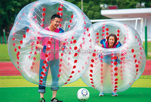 hot selling human sized bubble soccers, football bubble, zorb-like inflatable bubbles