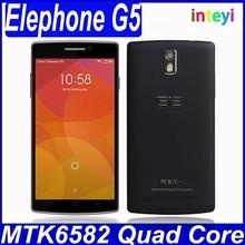 2014 New Smartphone Android 4.4 China Brand 5.5inch Elephone G5 MTK6582 IPS Screen 3G GPS