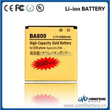 BA800 high capacity 2680mah for Song Ericsson, li-ion phone battery, gb t18287-2000 mobile phone battery