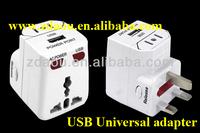 USB travel plug adaptor