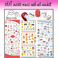 Supplies Korea 2D Design 5 Finger Nail Art Stickers