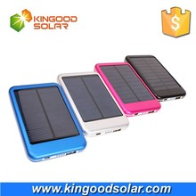Hiigh Efficient Solar Portable Backup External Battery 5000mah Solar Power Charger for Mobile Phone with Dual Output