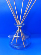 Gold factory 100ml glass reed diffuser bottle with stickers stoppers home decoration for sale