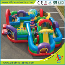 GMIF5019 kids world toys inflatable with many obstacle course for children