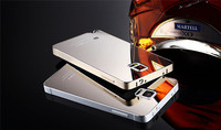 Luxury Mirror Acrylic Back Cover+Metal Aluminum Frame Case Ultra thin Phone Shell For Samsung Galaxy Note 4 3