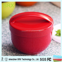 Make custom plastic lunch box,small round plastic lunch box,custom small round plastic lunch box with handle