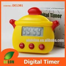 Pot shape digital timer