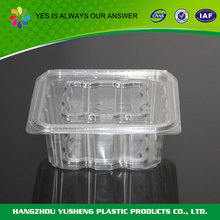 Customized unique shape take out plastic clear container for candy