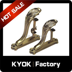 famous Russian style window metal double curtain rod brackets with high quality