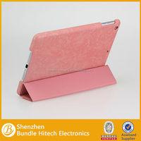 Good quality 4 fold smart case for apple ipad air, auto slepp function for apple ipad air case
