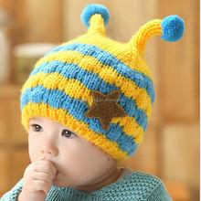 best seller warm winter children's knitted crochet beanie hat
