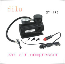 Factory supply 12A mini car air compressor,12V portable mini air compressor,19MM*1 cylinder 250/300 psi silent air compressor