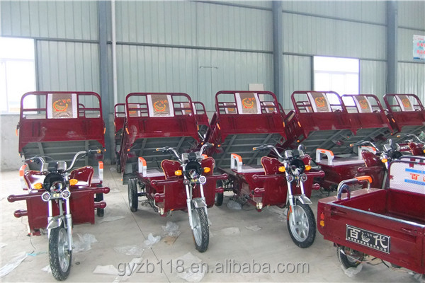 2013 Newest cargo electric tricycles with brushless motor