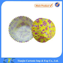 Beautiful flower paper muffins cup