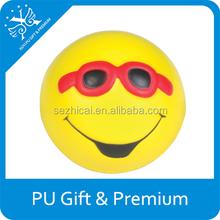 dolce sorriso facce palla antistress con occhiali da sole