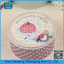 Factory Direct Sale Lovely Metal tin box Candy Sweetie Cracker Birthday Cake Packaging