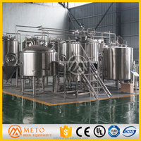 Large Brewery Plant , 2000L Beer Brewing Equipment,Beer Making Machine With High Quality