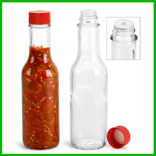 caldo salsa di bottiglie di vetro con coperchio in plastica per la marmellata ingrosso-Bottiglia ...