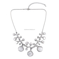 European and American fashion unique retro branches short clavicle opals necklace jewelry necklace