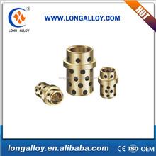 DIN 9834 cast aluminum bronze based oil free flanged roller guide bushes