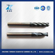 Professional various dia 5 flute sqr coated tialn carbide finisher end mills with great price