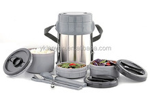 2.0L STAINLESS STEEL VACUUM FLASK. VACUUM LUNCH JAR WITH 3 BOXES