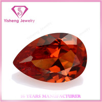 loose pear shape rough orange 22# ruby corundum stone diamond from south africa