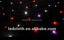 Cheapest and hot selling rgb led star curtain led curtain price