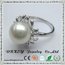 Freshwater pearl ring and fashion S925 Sterling Silver Starfish 10-11 mm