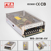 High Efficiency MS series led 200W 5V 40A AC-DC mini-size series Power Supply