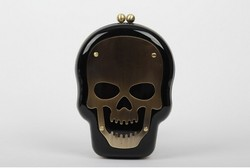 2016 promotional skull women pvc plastic acrylic phone case and clutch purse evening bag