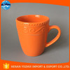 Orange stoneware mug, durable ceramic mug CUP, 10OZ mug